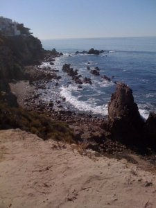 Little Corona Del Mar - our view from the cliffs